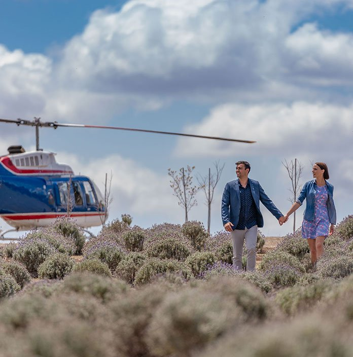 Kooroomba Lavender Farm Helicopter Tour