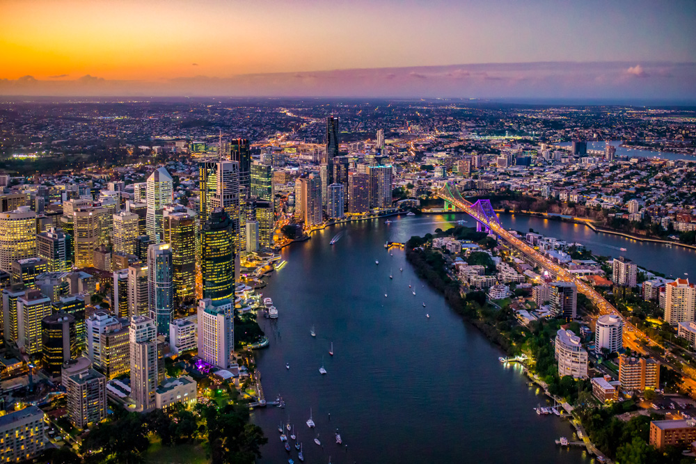 Brisbane Sunset Flight