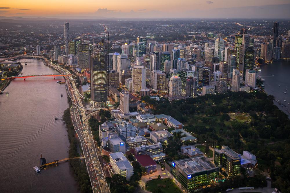 Sunset Flight - South Bank & Brisbane City