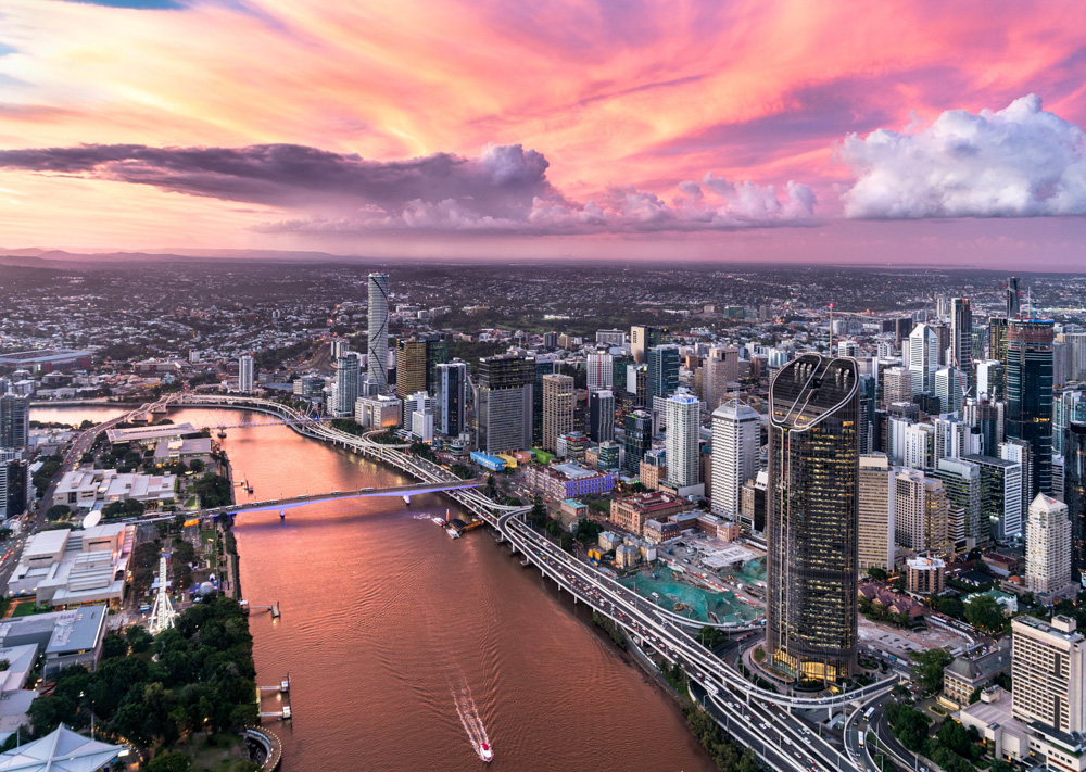 Sunset Flight - South Bank & Brisbane City