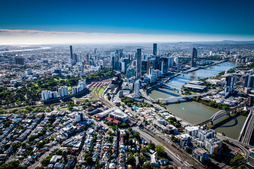 Brisbane City from the Air