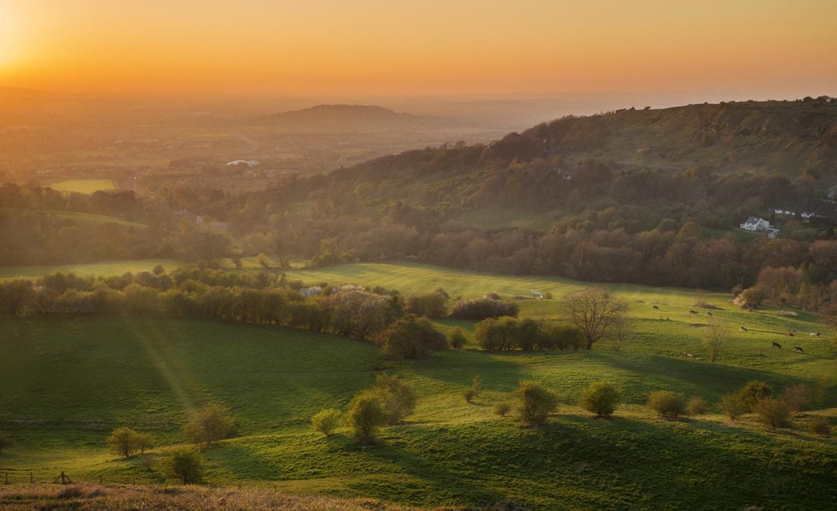 Rolling hills near Esk