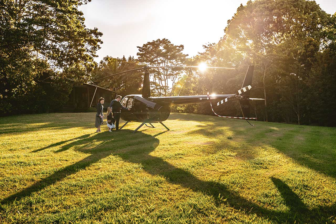 Spicers Tamarind - Helicopter Arrival