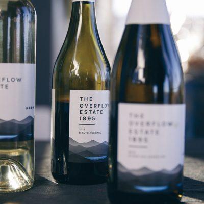Wine tasting at the overflow estate